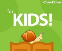Overdrive for Kids with a book with a snail on top