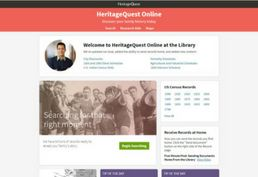 Heritage Quest Online database