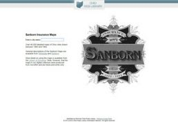 Sanborn Insurance maps database