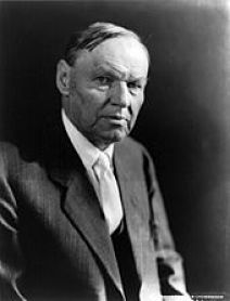 Black and white photo of Clarence Darrow