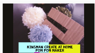Thumbnail of Youtube Video of how to make pompoms